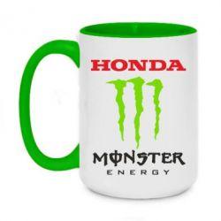 Купить Honda Racing, Кружка двухцветная 420ml Honda Monster Energy, FatLine