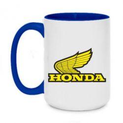 Кружка двоколірна 420ml Honda Vintage Logo