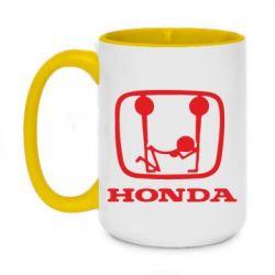 Кружка двухцветная 420ml Honda - FatLine