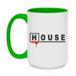 Кружка двоколірна 420ml House