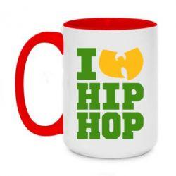 Кружка двухцветная 420ml I love Hip-hop Wu-Tang - FatLine