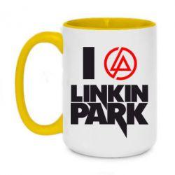 Кружка двухцветная 420ml I love Linkin Park