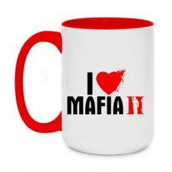 Кружка двоколірна 420ml I love Mafia 2