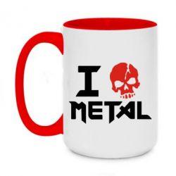 Кружка двухцветная 420ml I love metal - FatLine