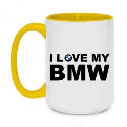 Кружка двоколірна 420ml I love my BMW