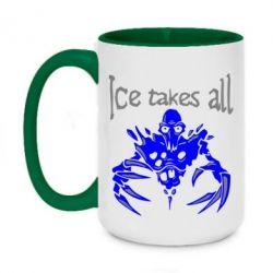 Кружка двухцветная 420ml Ice takes all Dota