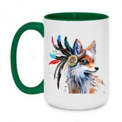 Кружка двоколірна 420ml Indian Fox