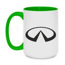 Кружка двухцветная 420ml Infiniti logo