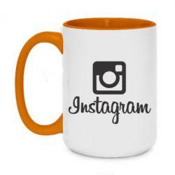Кружка двоколірна 420ml Instagram