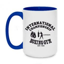 Кружка двухцветная 420ml International Championship Boxing Gym London
