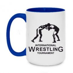 Кружка двухцветная 420ml International Wrestling Tournament - FatLine
