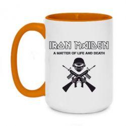 Кружка двухцветная 420ml Iron Maiden - FatLine
