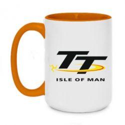 Кружка двоколірна 420ml Isle of man