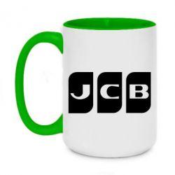 Кружка двоколірна 420ml JCB 2