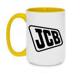 Кружка двоколірна 420ml JCB