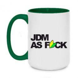 Кружка двоколірна 420ml JDM As Fuck