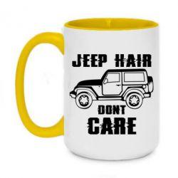 Кружка двоколірна 420ml Jeep hair don't care