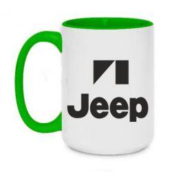 Кружка двухцветная 420ml Jeep Logo