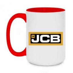 Кружка двоколірна 420ml Jgb logo2
