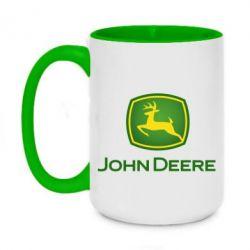 Кружка двоколірна 420ml John Deere logo