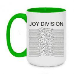 Кружка двоколірна 420ml Joy devision