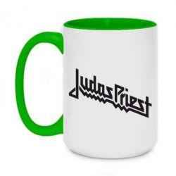 Кружка двоколірна 420ml Judas Priest Logo