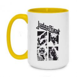 Кружка двоколірна 420ml Judas Priest