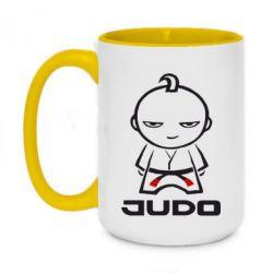 Кружка двоколірна 420ml Judo Fighter