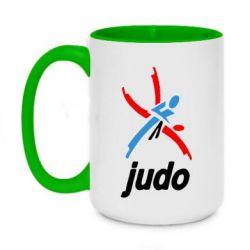 Кружка двоколірна 420ml Judo Logo