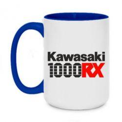Кружка двоколірна 420ml Kawasaki 1000RX