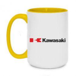 Кружка двоколірна 420ml Kawasaki Logo