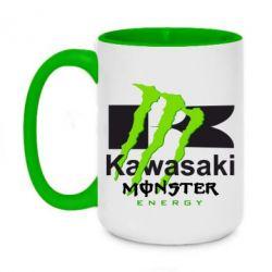 Кружка двоколірна 420ml Kawasaki Monster Energy