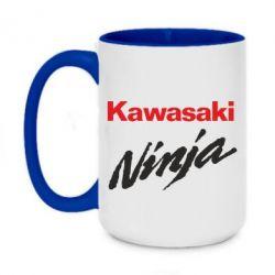 Кружка двухцветная 420ml Kawasaki Ninja