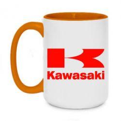 Кружка двухцветная 420ml Kawasaki