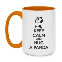 Кружка двоколірна 420ml KEEP CALM and HUG A PANDA
