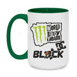 Кружка двоколірна 420ml Ken Block Monster Energy