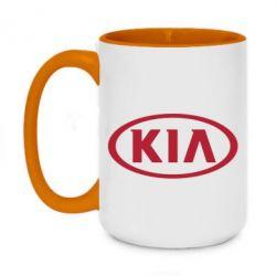 Кружка двухцветная 420ml KIA