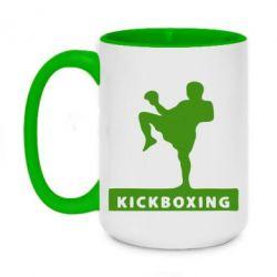 Кружка двухцветная 420ml Kickboxing Fighter