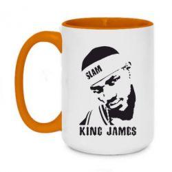 Кружка двухцветная 420ml King James