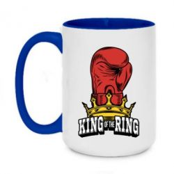 Кружка двоколірна 420ml king of the Ring