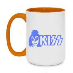 Кружка двухцветная 420ml Kiss Album