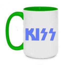 Кружка двухцветная 420ml Kiss Logo