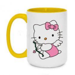 Кружка двухцветная 420ml Kitty амурчик - FatLine