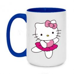 Кружка двухцветная 420ml Kitty балярина