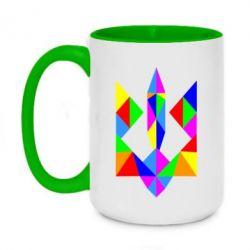 Кружка двухцветная 420ml Кольоровий герб