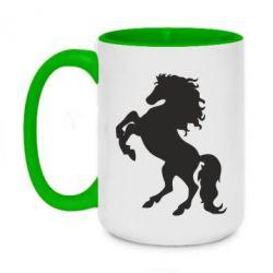 Кружка двоколірна 420ml Кінь