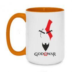 Кружка двоколірна 420ml Kratos - God of war