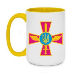 Кружка двоколірна 420ml Хрест з мечем та гербом