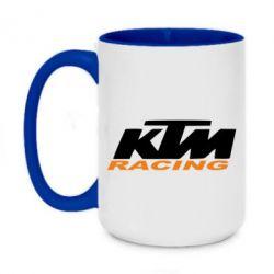 Кружка двоколірна 420ml KTM Racing - FatLine