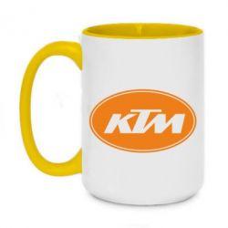 Кружка двоколірна 420ml KTM
